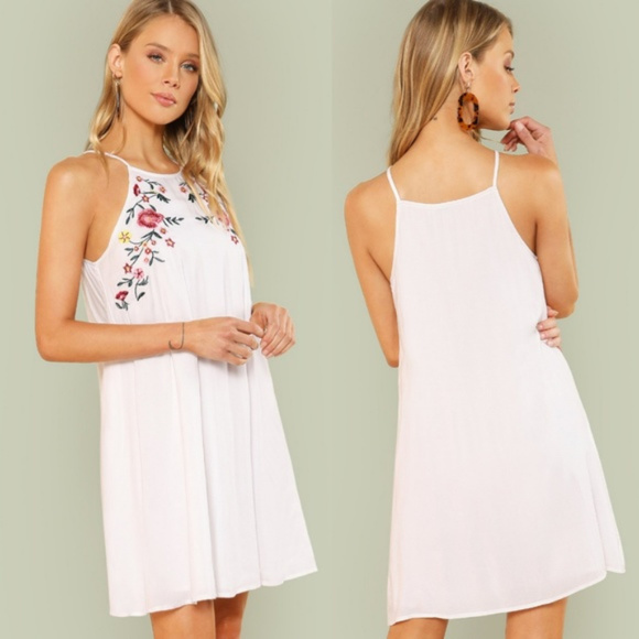 cb83906782 SHEIN Dresses | Last One White Embroidered Dress New Large | Poshmark